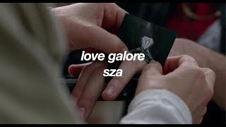 love galore / sza (lyrics)