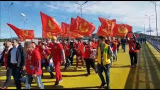 Манифестация комсомольцев в Сочи в октябре 2017 года