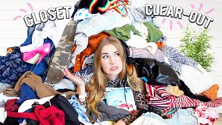 CLEANING OUT MY CLOSET(S)!! * donating 12 bags of clothes *