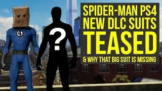 Spider Man DLC Suits TEASED & Why That Big Suit Is Missing (Spiderman PS4 DLC Suits)
