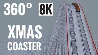360 VR 8K video - Xmas Snow Wooden Roller Coaster Samsung Gear VR