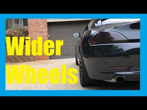 Wider rims and tires- BMW Z4 e89 Wheel Offsets - 35 mm versus stock.