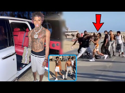NLE Choppa Gets Into A 👊🏾 At Venice Beach & Catches The Paws👀!?