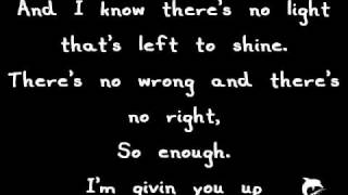 Miley Cyrus - Giving You up / Lyrics on screen. HQ FULL SONG