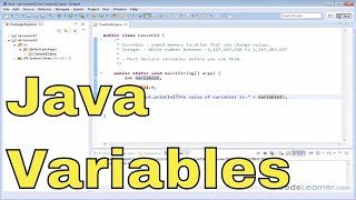 12 - Declaring and Using Integer Variables in Java