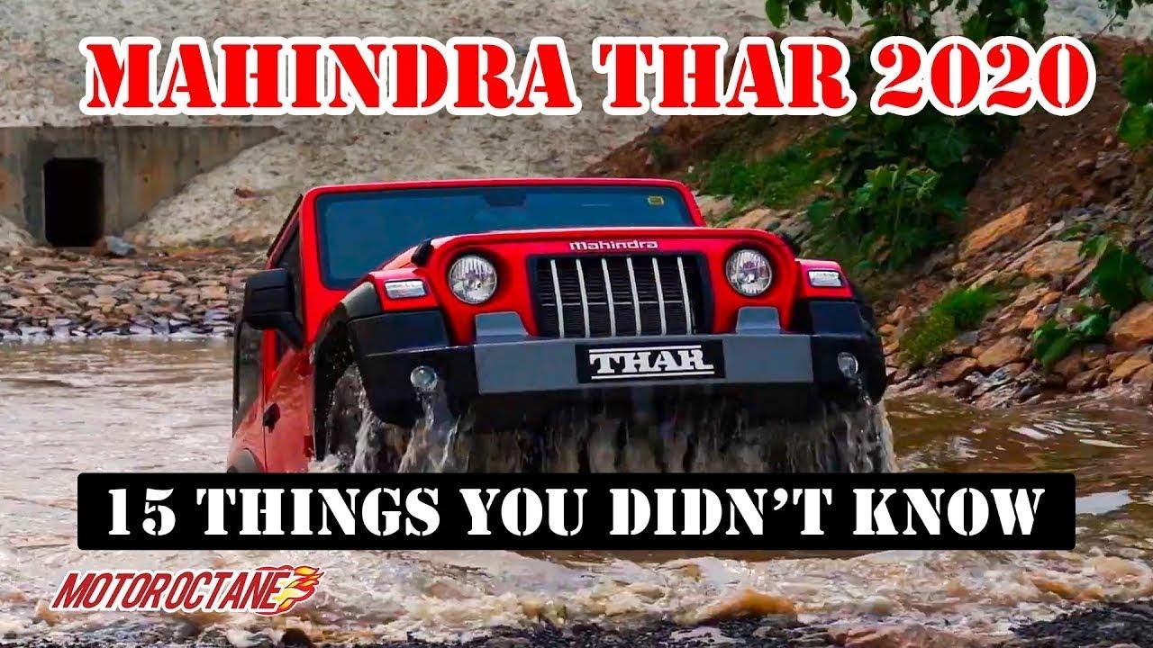Motoroctane Youtube Video - New Mahindra Thar - 15 Things You didn't know | Hindi | MotorOctane