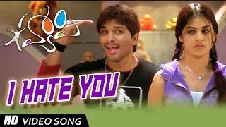 I Hate You  Song Lyrics from Happy - Allu Arjun