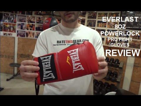 Боксерские перчатки боевые Everlast Powerlock