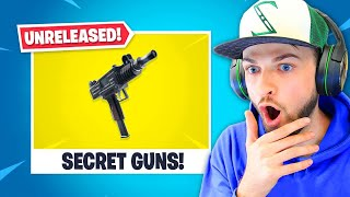 Secret *UNRELEASED* guns in Fortnite!
