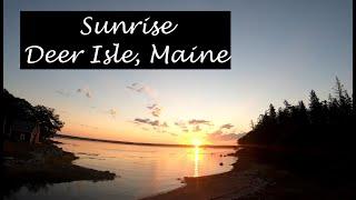 Sunrise Ocean FPV Longrange Drone Flight Deer Isle, Maine