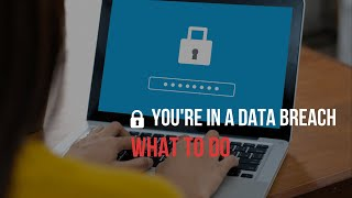 🔒 What to do when you're involved in a data breach