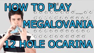 Megalovania - Undertale - 12 Hole Ocarina Tutorial