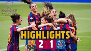 🏆 HIGHLIGHTS | Barça Women 2–1 PSG | Into the Champions League final!