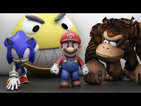 Pacman vs Mario Sonic and Donkey Kong world