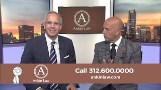 David Kaplan of NBC Sports Chicago in Ankin Law Commercial
