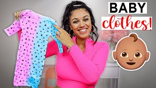 NEWBORN BABY CLOTHING HAUL!! **pregnancy Update**