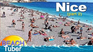 4K VIDEO BEACH WALK French Riviera ( NICE ) TRAVEL Vlog HDR