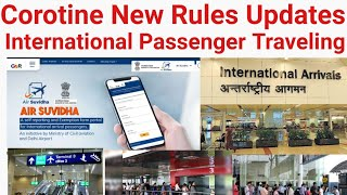 International Passenger Traveling | New Rules Updates Air Suvidha App Compalsery By Civil Aviation