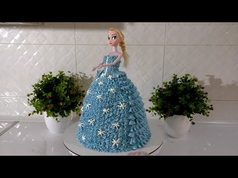 Как сделать торт кукла из крема