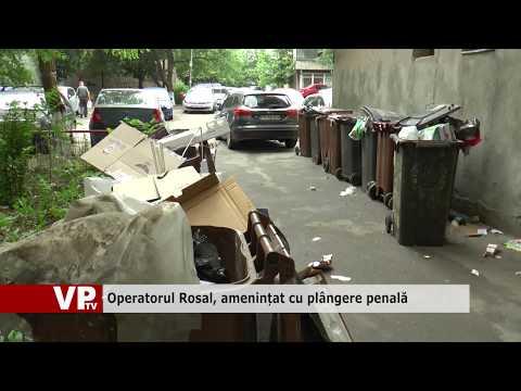 Operatorul Rosal, amenințat cu plângere penală
