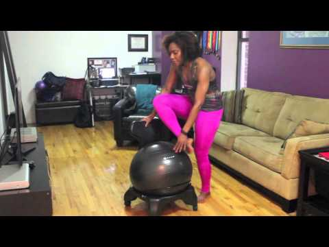 Stretches With The Gaiam Balance Ball Chair