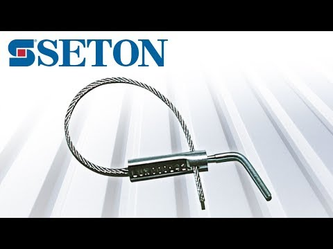 Comment poser un scellé câble à vis auto-cassante, par Seton