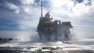 This Aircraft Carrier has a State-of-the-Art Fire System
