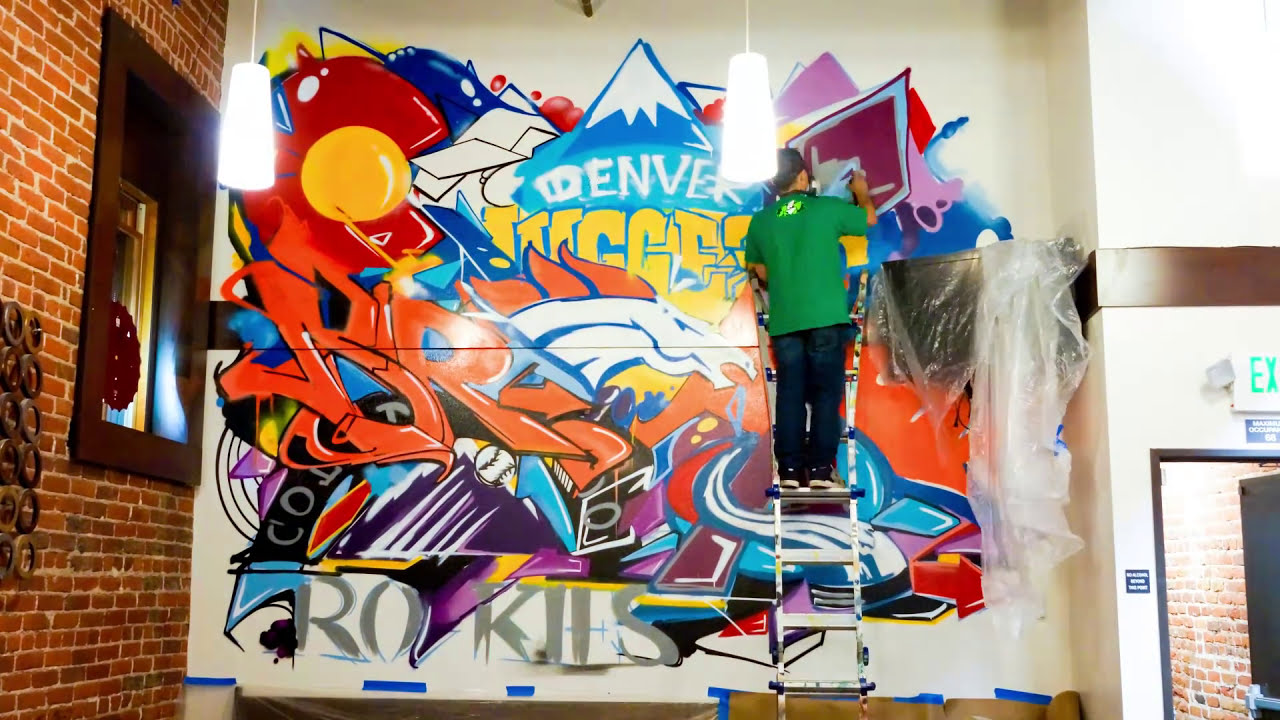 graffiti wall art time lapse artwork by michael scileppi