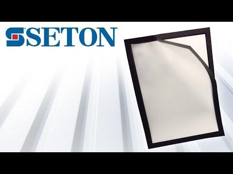 Porte document à fermeture magnétique avec cadre coloré