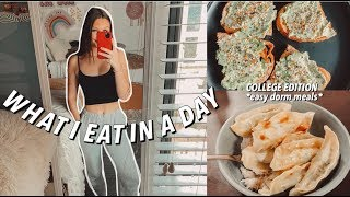 COLLEGE WHAT I EAT IN A DAY *easy/healthy dorm meals*