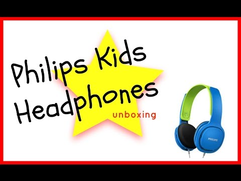 Philips kids headphones unboxing