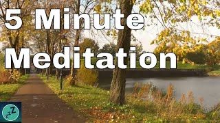 REDUCE ANXIETY 5 MINUTE MEDITATION - Relax Under the Autumn Trees Listening to the Rustling Leaves