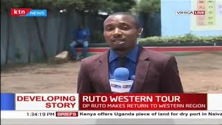 DP Ruto makes a return to the western region as he sets to launch various development projects