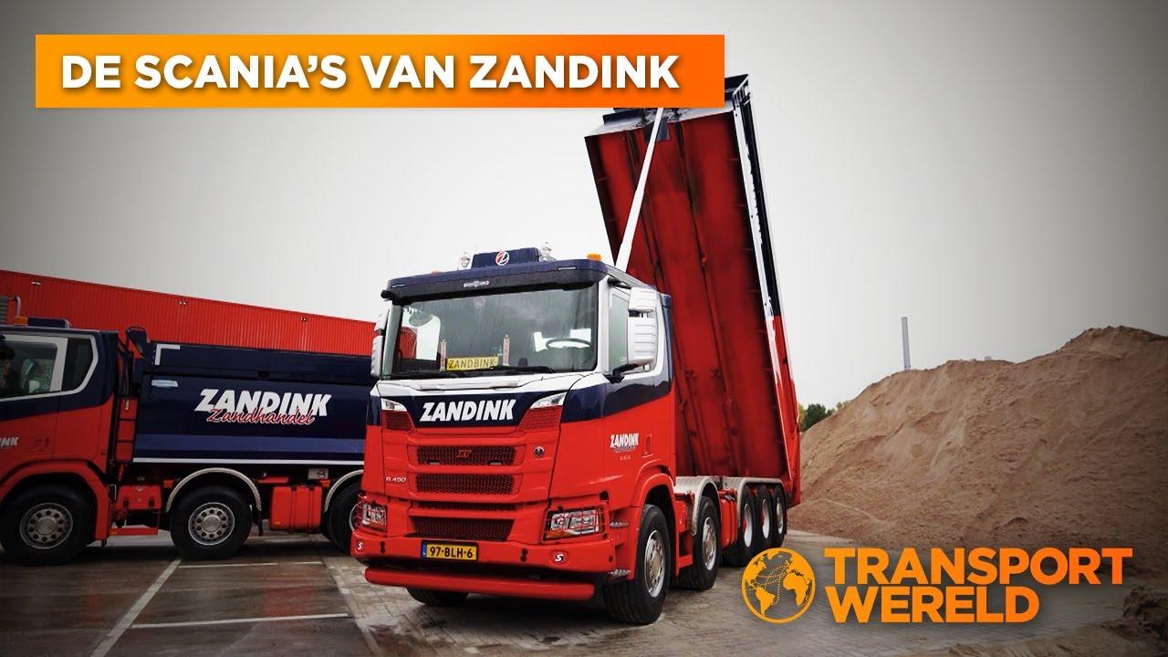 Achter de schermen bij zandhandel Zandink (met dikke Scania's)