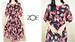 DIY Sewing Chiffon Dress   Zoe DIY