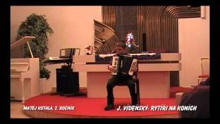 Vánoční koncert 19.12. 2012 - 07. Matěj Kotala - akordeon
