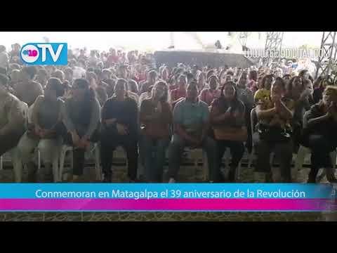 Conmemoran en Matagalpa el 39 aniversario de la Revolución