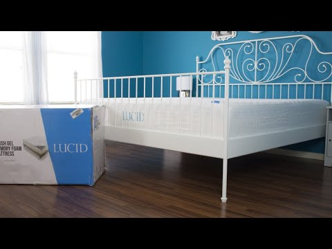 Lucid 14 inch Plush Memory Foam Mattress Unboxing & Review