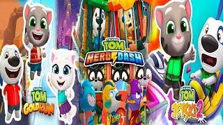 Talking Tom Hero Dash - Talking Tom Gold Run - Talking Tom Jetski 2 - Full walkthrough - Gameplay