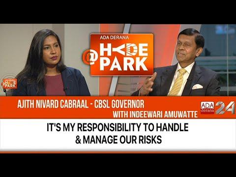 CBSL Governor Ajith Nivard Cabraal Joins Indeewari Amuwatte @HYDEPARK