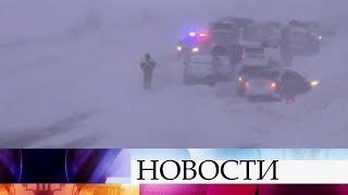 Жители Мурманской области делятся впечатлениями от прошедшей накануне метели и снегопада.