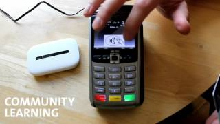 Community Learning: tech guides; using the WiFi credit card machine