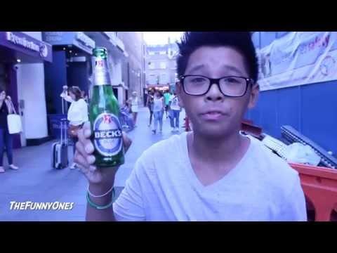 Met Police Lets Kid Drink Alcohol In Public