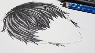 How To Draw Realistic Anime Hair Boy [Drawing Anime Slow Tutorial For Beginners]