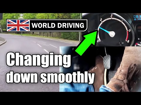 How to change gear smoothly (down) in a manual / stick shift Car