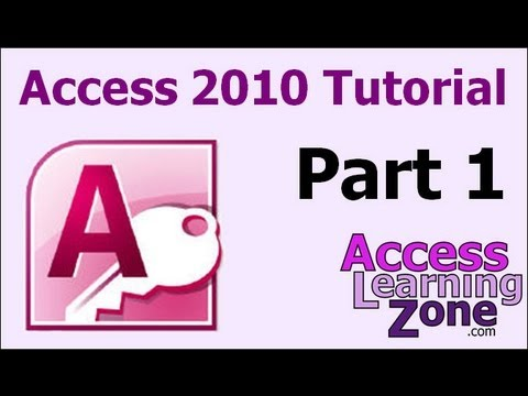 Microsoft Access 2010 Tutorial Part 01 of 12 - Database ... - YouTube