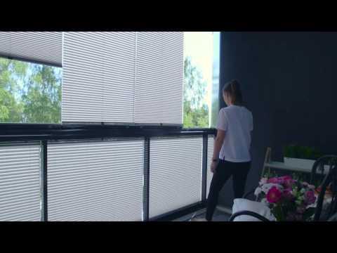 Lumon Sonnenschutz-Plissees für Balkonverglasungen