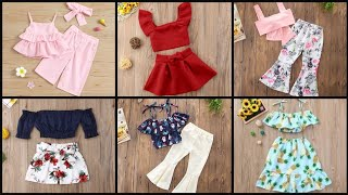 Cute Summer Friendly Outfits For Kids Girls || Stylish Dresses For Baby Girls/Kids Girls