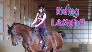 🐎English Horse Riding Lessons! Posting Trot And Diagonals!🐎 FIRST DAY TV