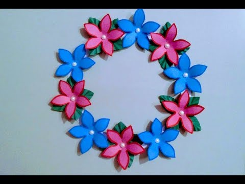 Download Paper Flower And Leaves Wall Hanging Tutorial Diy Easy Wal